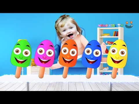 Thumbnail: Colors for Children to Learn with Bad Baby Crying Colorful Ice Cream Finger Family Song Collection