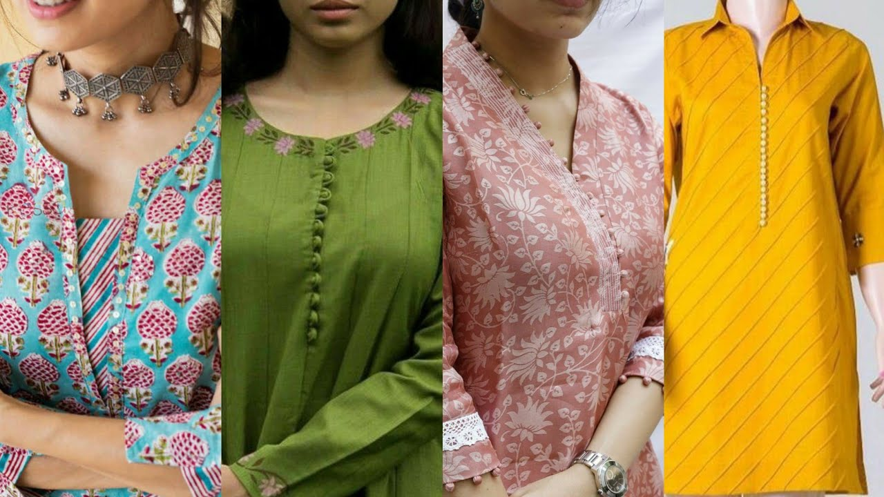 latest and very beautiful useful new neck design ideas for kurti kameez and shirts