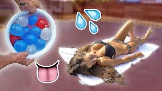 WATER BALLOON PRANK ON NAKED GIRLFRIEND!