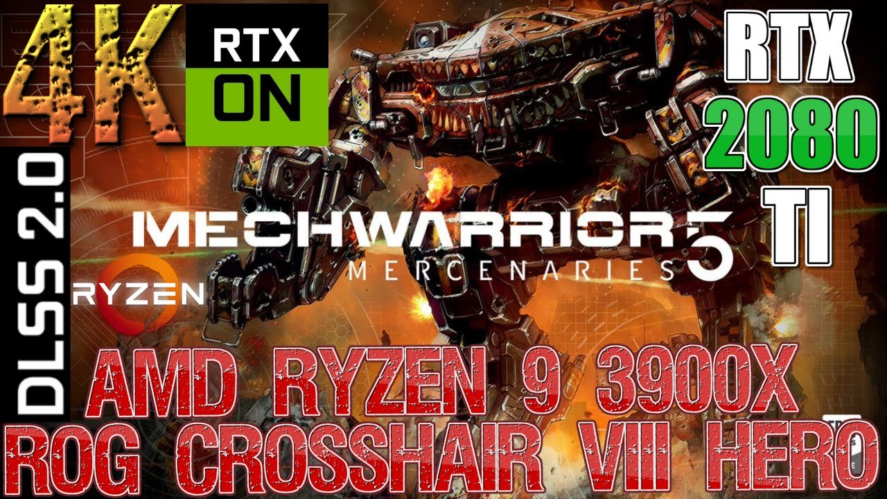MechWarrior 5: Mercenaries DLSS 2.0 ON/OFF | RTX 2080 TI | Ryzen 9 3900X Stock