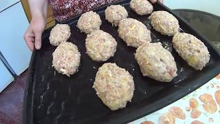 Полезные котлеты из мясного фарша и кабачка! Useful cutlets from minced meat and zucchini!