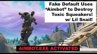 "Defaulty Boi Uses""Aimbot"" and Destroys Toxic Squeakers in Playground! Extremely Funny! Must Watch!"