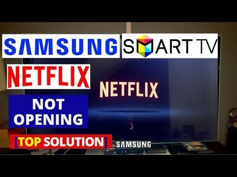 My netflix app is not working on my samsung smart tv