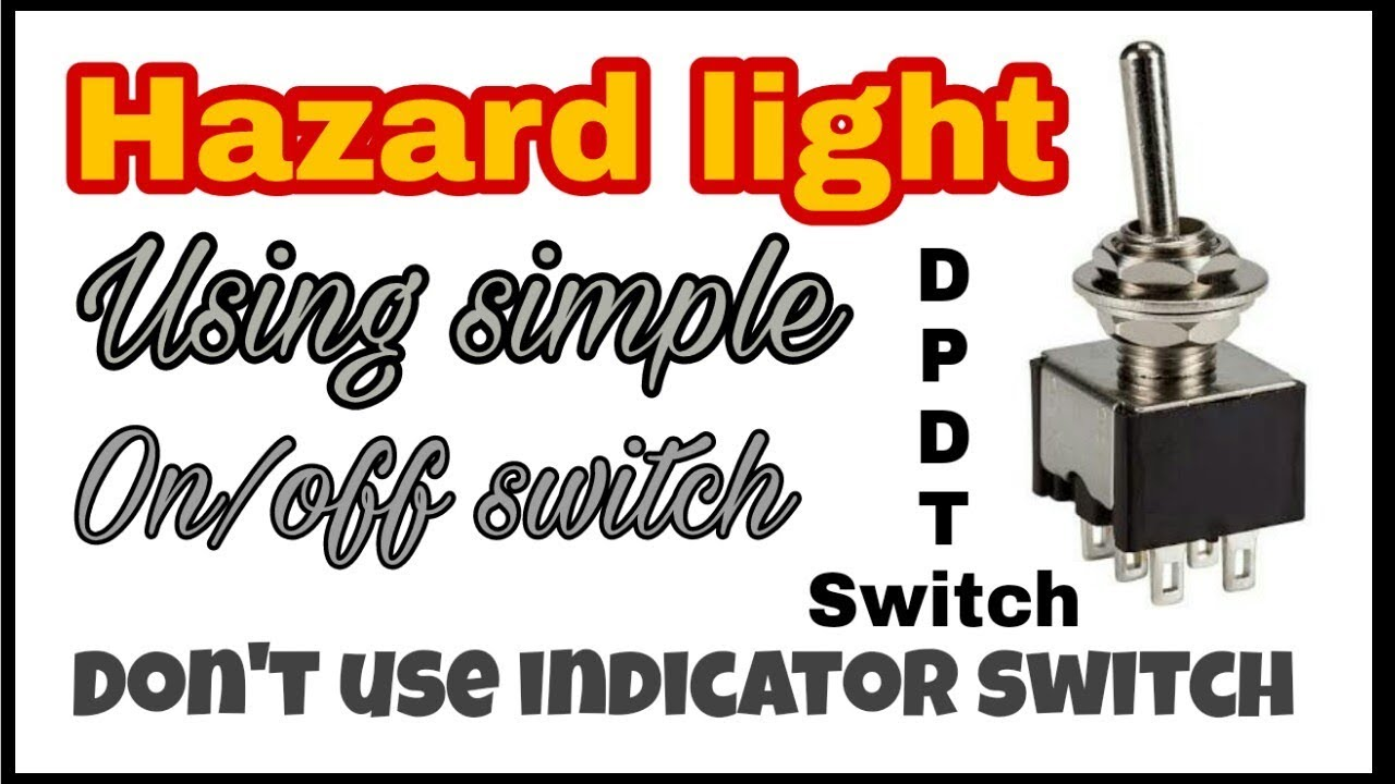 hazard light without indicator switch || Yamaha Ray ZR || DPDT ...