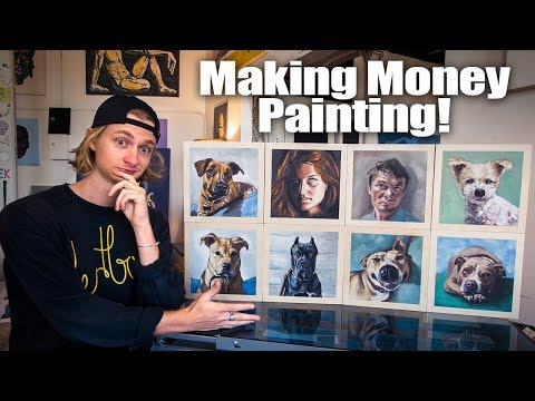 Making Money Painting! - EIGHT Oil Painting Commissions