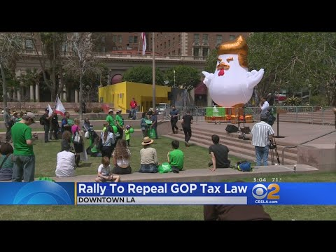 Protesters Gather To Denounce GOP Tax Plan