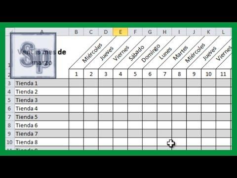 Excel - Girar texto de una celda. Inclinar celda en Excel. Tutorial en español HD