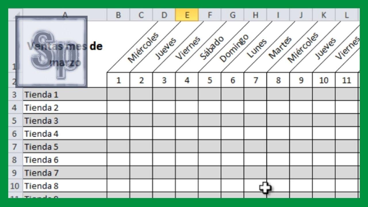 Excel - Girar texto de una celda. Inclinar celda en Excel. Tutorial en ...