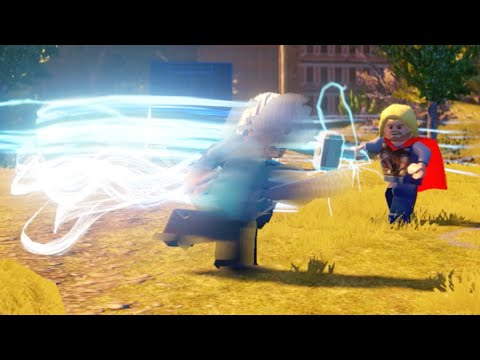 Lego Marvels Avengers All Quicksilver Team Up Special Moves (Showcase)