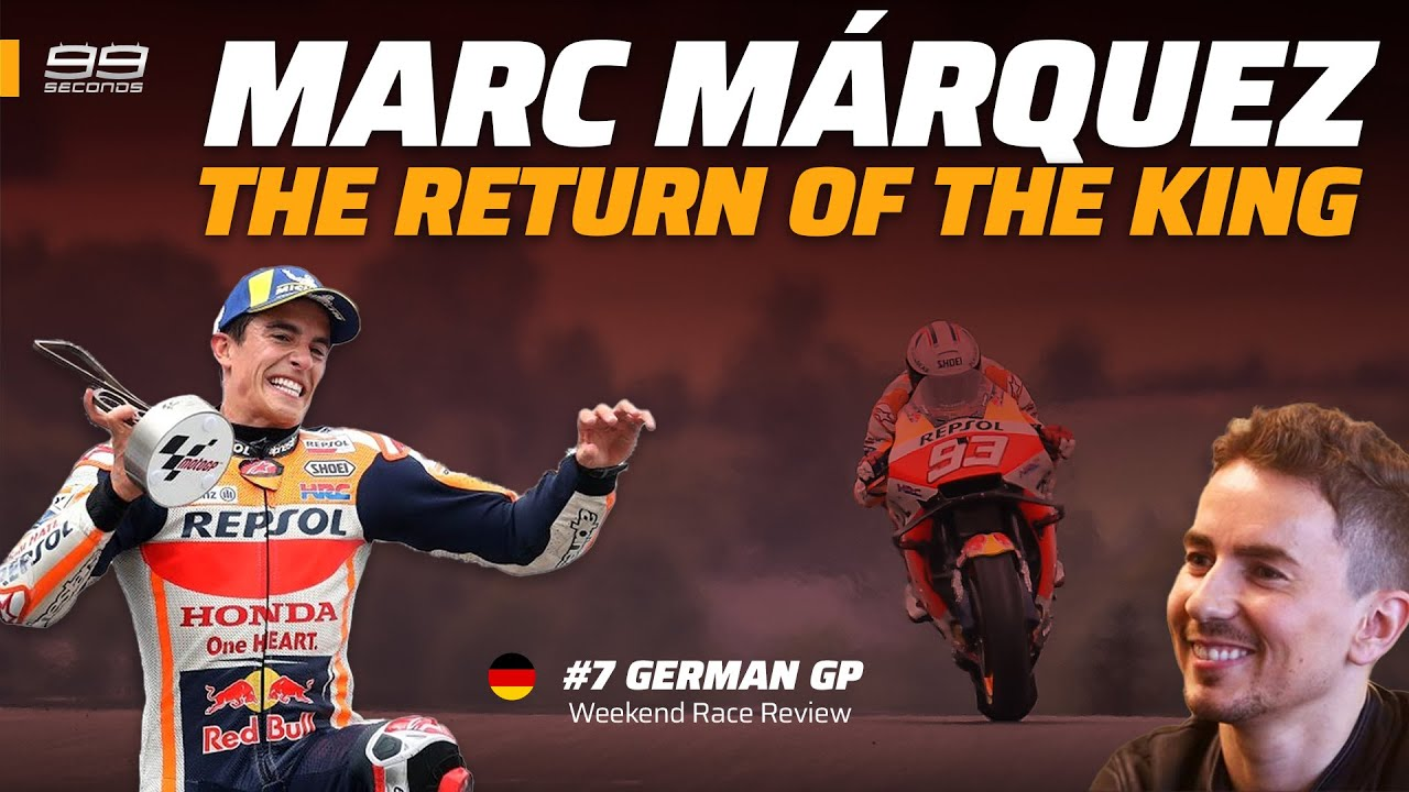MARC MÁRQUEZ 👑 El retorno del rey ▶️ REVIEW MOTOGP ALEMANIA 2021 | Jorge Lorenzo #99seconds