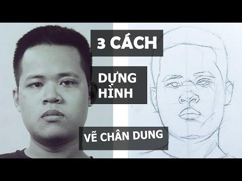3 Cách Dựng Hình ĐƠN GIẢN / Vẽ Chân Dung