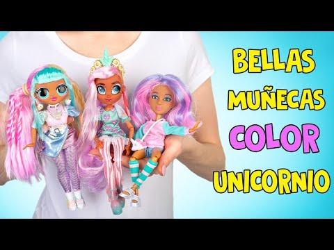 3 increíbles muñecas de colores de Unicornio! ❤