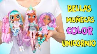 3 increíbles muñecas de colores de Unicornio! 🦄❤️