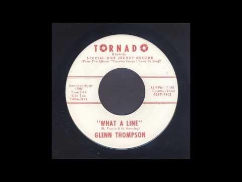 Glenn Thompson - What A Line - Rockabilly 45
