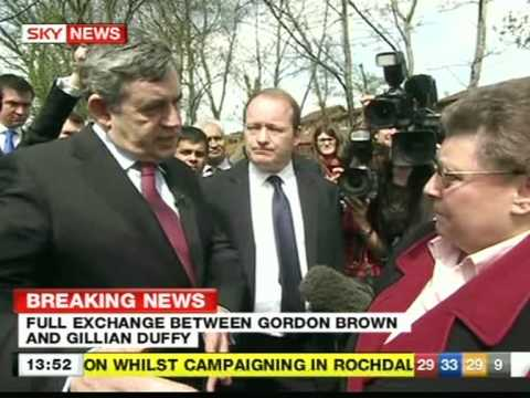 """Gordon Brown and """"Bigoted Woman"""" IN FULL - Rochdale 28 April 2010"""