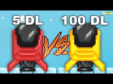 10WL STARSHIP vs 100DL STARSHIP!! OMG!! - GrowTopia