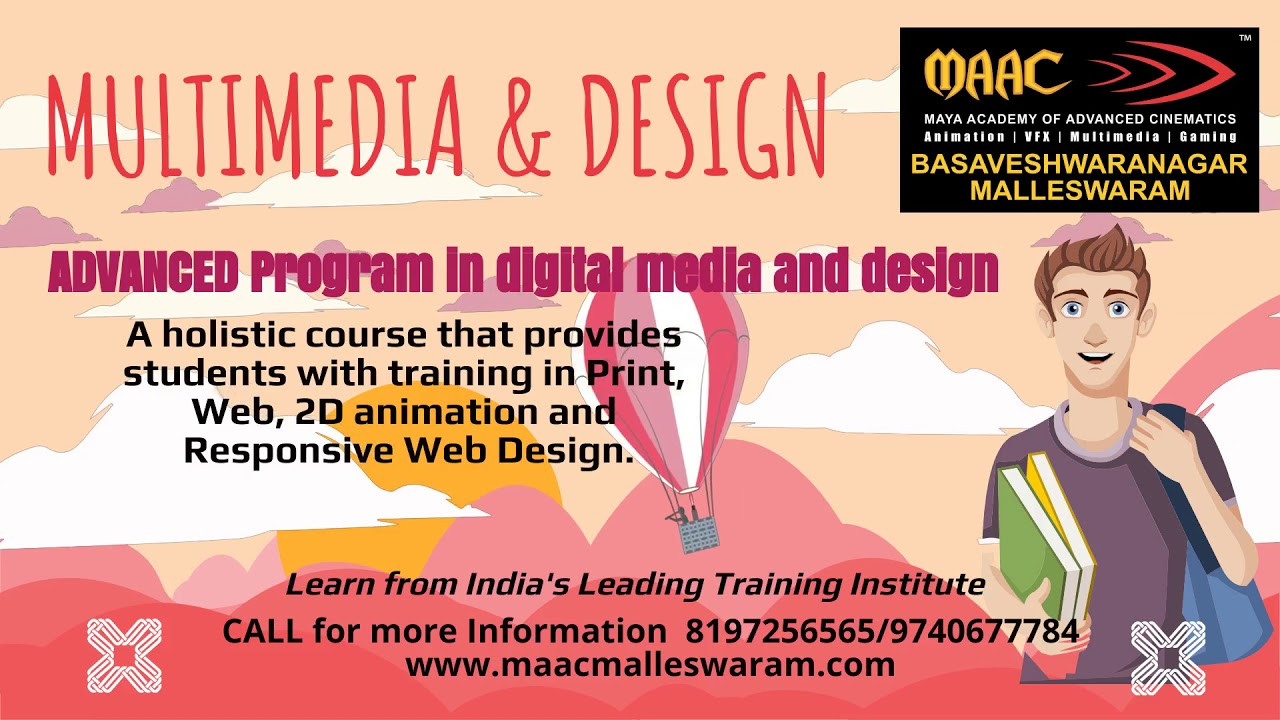Multimedia Design Career Graphic Web Bangalore Malleswaram Youtube