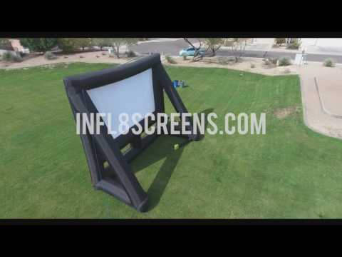 20x12 seamless Inflatable Movie Screen