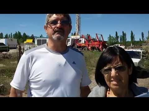 Juan Ponce y Lidia Campos de la Asamblea Permanente por el Agua de Allen