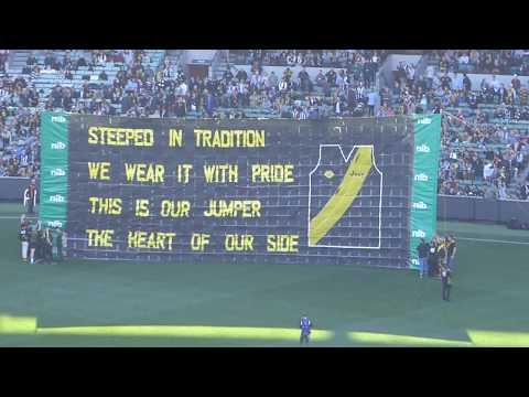 Australian Rules Football...team fight songs...Collingwood vs. Richmond...Melbourne Cricket Ground