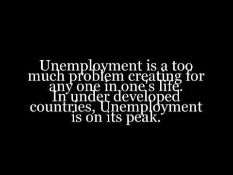Essay on unemployment