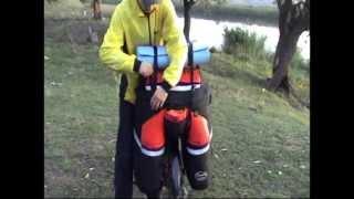Видеообзор велосумка, велорюкзак, велобаул, сумка для велосипеда DenVik turist