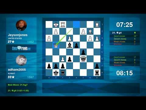 Chess Game Analysis: Jaysonjones - adham2005 : 0-1 (By ChessFriends.com)