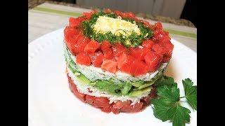 Новогодний Салат ПРАЗДНИЧНЫЙ без майонеза и картофеля. Ощутите новый вкус!