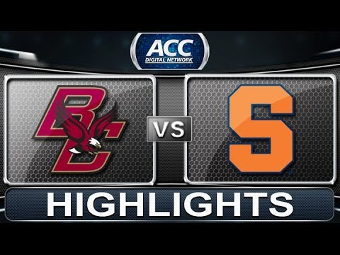 Boston College Vs Syracuse 2014 Acc Basketball Highlights Youtube