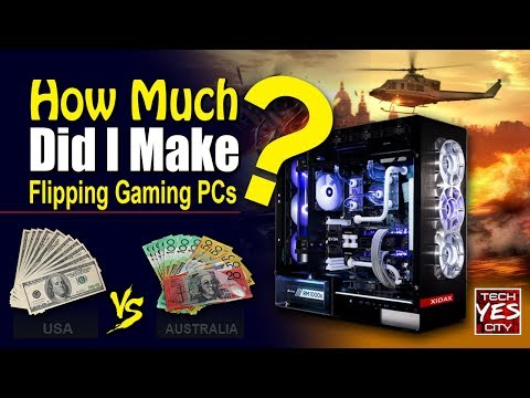 How Much Profit Did I Make Flipping Gaming PCs....?  USA Vs. Australia