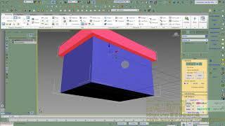 3dmax강좌,담벼락재질,창문구멍모델링