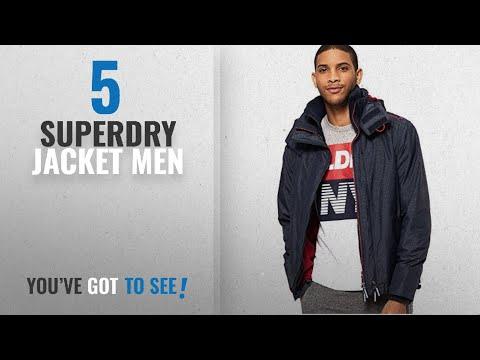Top 10 Superdry Jacket Men [2018]: Superdry Men's Tech Hood Pop Zip Windcheater Sports Jacket