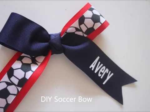 DIY Soccer Bow