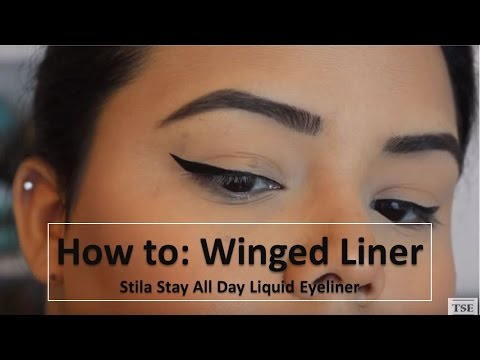 Easy Winged Eyeliner Tutorial | Stila Stay All Day Liquid Eyeliner | Cat Eyeliner