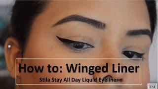 Easy Winged Eyeliner Tutorial | Stila Stay All Day Liquid Eyeliner | Cat Eyeliner