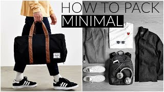 HOW TO TRAVEL MINIMAL | While Staying Trendy/Fashionable | Men