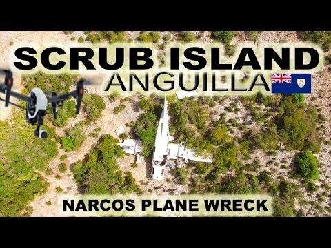 Scrub Island Anguilla ~ Narcos Plane Crash ~Best UAV Drone Caribbean ~ WeBeYachting.com