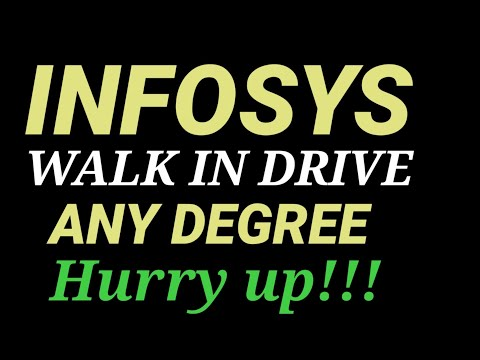 INFOSYS  WALK IN DRIVE FOR FRESHERS || ANY DEGREE || JOBS AT BANGLORE // GPR TALKS