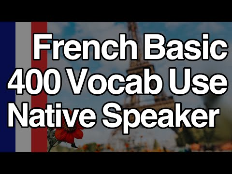 French Basic Vocabulary in Use 400 by Native Speaker