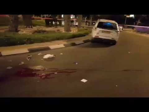 Terror attack scene in Arad