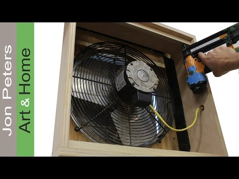 How To Build A Cabinet Around The Shop Exhaust Fan Youtube