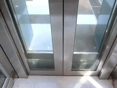 All Glass Kone Ecodisc Glass Traction Elevator Hotel
