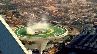 Red Bull Racing F1 Stunt on Burj Al Arab Helipad (Official Video)| Dangerious Stunt | Azhar Vlogs