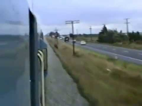 The Southerner Train From Christchurch to Dunedin April 1990