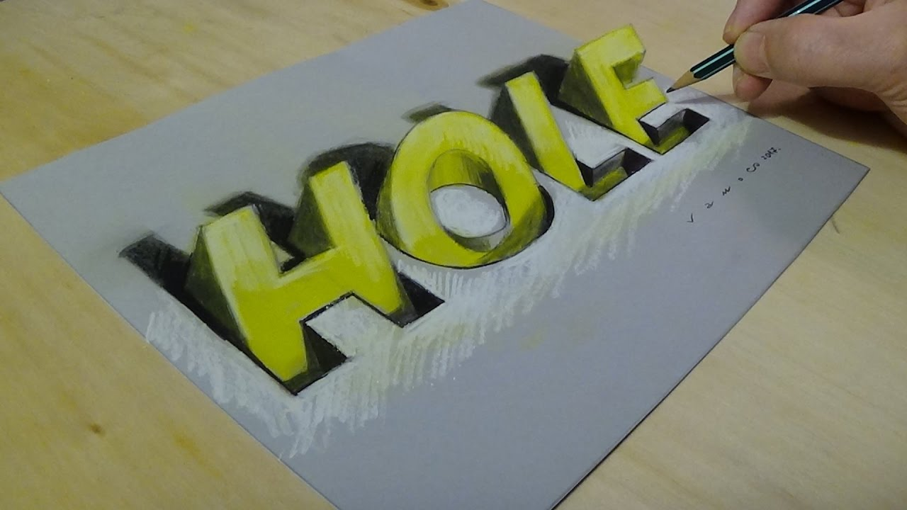 New viewpoint 3d drawing letters how to draw hole letters