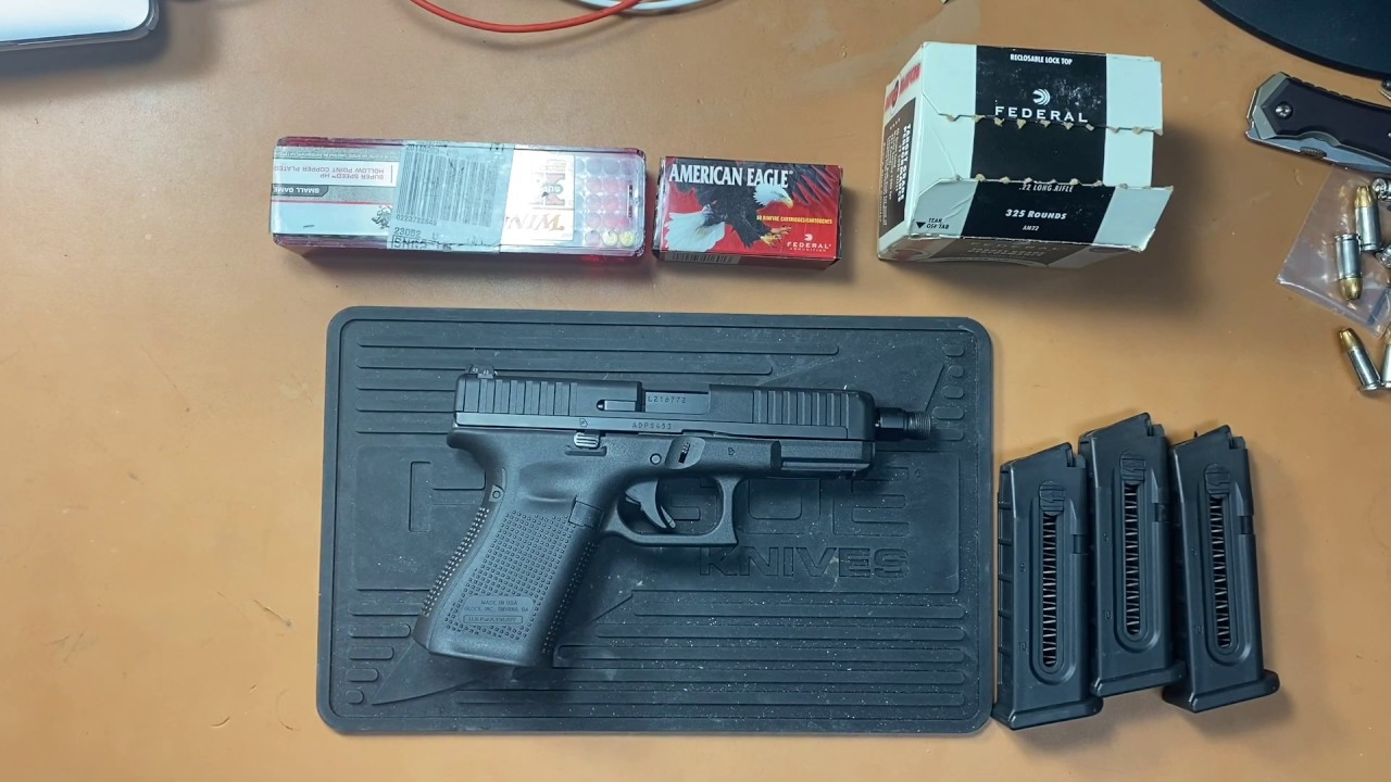 Glock 44 Review Part 2-Suppressed shooting