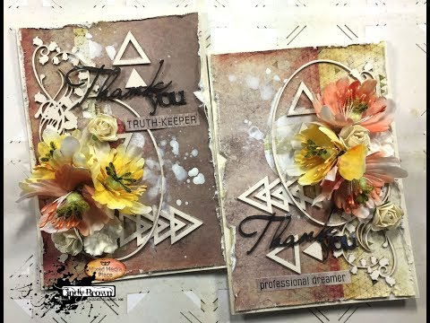 Thank you cards for challenge Mixed Media Place