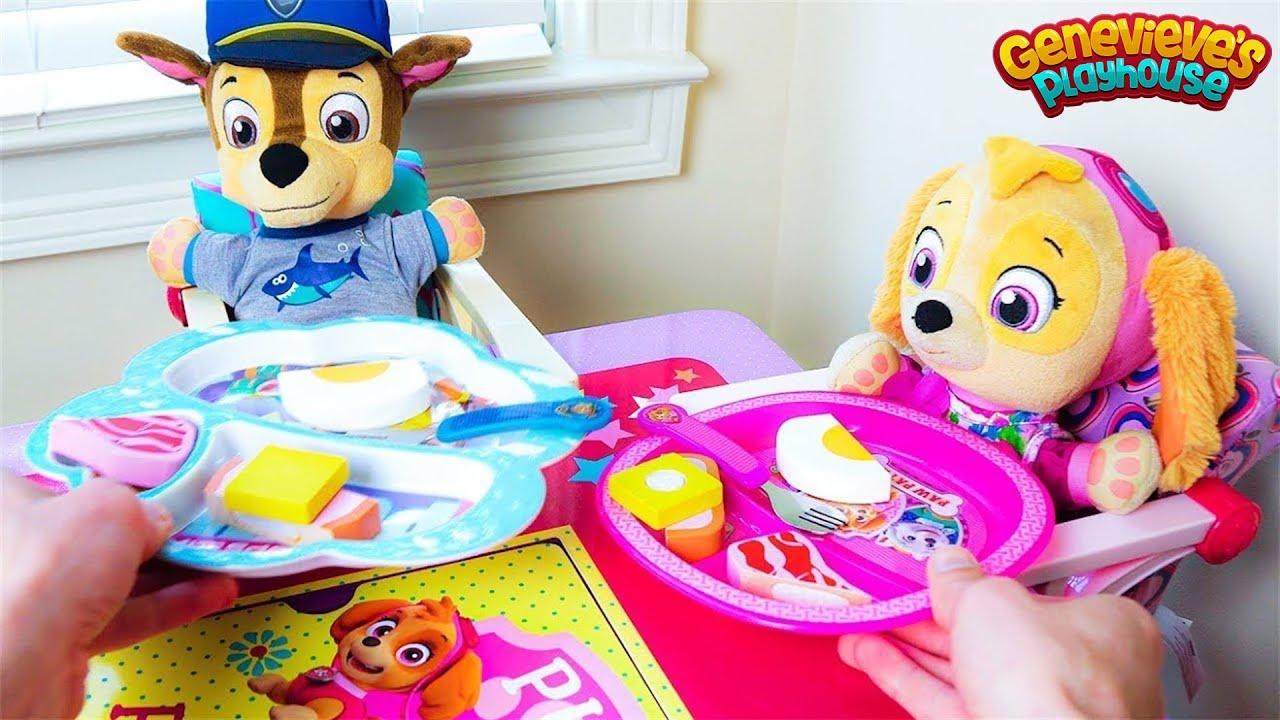 Paw Patrol Skye и Chase веселого дня на детской площадке!