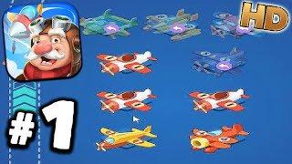 Merge Plane Gameplay #1 - NEW IDLE GAME! - Walkthrough Android - GPV247