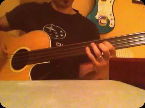 Acoustic fretless bass improv